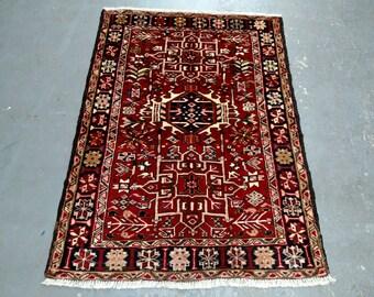Persian Rug - 1960s Hand-Knotted Karaja Persian Rug (3611)