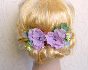 Pink floral hair pins, Pink flower clips, Wild flower clip, Wedding hair piece, Bridal hair accessories, Woodland hair pin, Wedding pins