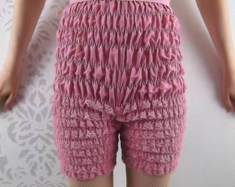 RETRO PINK BLOOMERS Shorts Pettipants Lace Ruffles Size Small