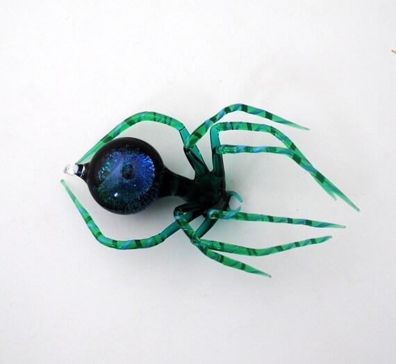 Medium Dichroic Spider with Galaxy in Abdomen