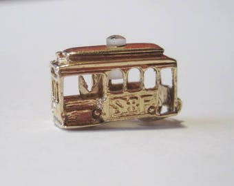 14k Gold San Francisco Trolley Charm