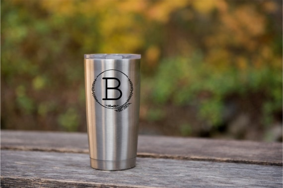Laser Engraved YETI or RTIC brand Coffee Travel Cup, 20oz Tumbler, Personalized Groomsmen Men's Christmas Gift