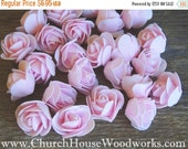 WINTER SALE Pastel Pink Foam Roses Artificial Flower Heads, for Crafts, Weddings, Table Scatters, Decor, Wedding Decor, DIY Floral, Crafts,