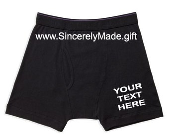 Custom Boxer Briefs for Men  - Funny Gifts for Men - Gift Ideas for Men - Gifts for him - boyfriend gifts - Unique gifts for men - Boxers