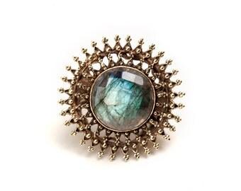 Empress ring - with labradorite (JB-R-012)