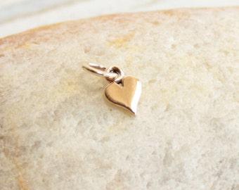 Tiny Bronze Heart Charm