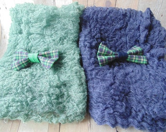 Twin Boys Cheesecloth and  BowTie set..  Twin sets Photo Props.. . Twin Newborn Photo Pictures...