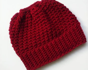 Clearence Messy bun hat ponytail hat Teen/Woman crochet bun hat crochet ponytail hat besnie ponytail beanie bun beanie pony tail hat