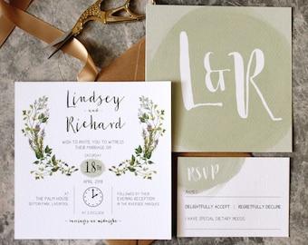 Herb Garden Wedding Invitation