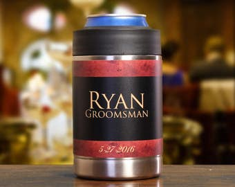 Six Gifts for Groomsmen, Personalized Can Coolers