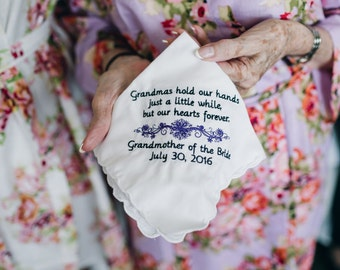 Grandma grandmother wedding hankie