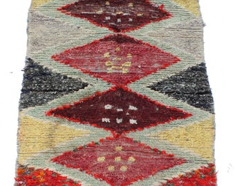 Vintage Moroccan Runner Rug, 6' 10'' x 3' 1''