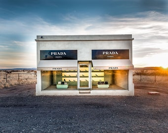 Prada Marfa, Art Installation, Texas Sky, Home Decor,Americana Photography, Fine Art Photography, Large Wall Art