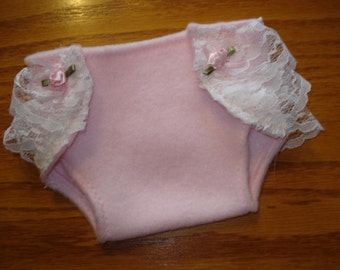 15 inch Baby Doll pink soft Diaper lots of lace