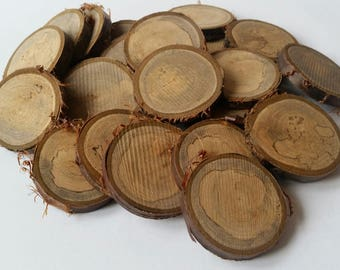 Spalted cherry wooden slices, 6cm, Tree slices, wood slices, branch slices, wooden slices, wedding, UK, name tags, wedding,