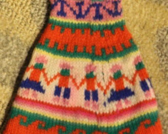 Vintage South American Child's Winter Hat/ Beanie