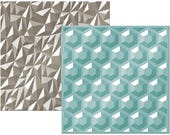 American Crafts We R Memory Keepers Next Level 3D Embossing Folders -Gemstone