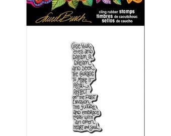 Stampendous!  Laurel Burch Cling Stamp Dream Wish Sentiment