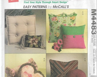 McCall's M4483 TLC Trading Spaces Pillows Sewing Pattern 2004 Uncut