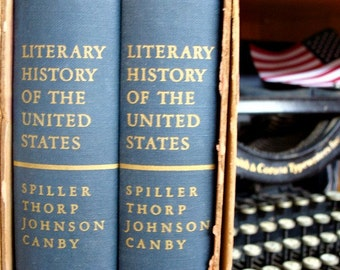 1948 Literary History Of The United States FIRST PRINTING Volume l & ll  Spiller Thorp Johnson Canby The MACMILLIAN Company