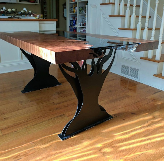 Metal Double Tree Dining Table Legs