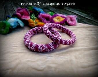 Bracelets, Pink, Handmade, Ribbons, Velvet, Bangles, Bohemian, Accessories, Woodland, Shabby Chic, Romantic