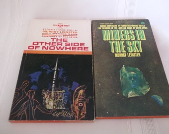 Murray Leinster 2 Vintage Science Fiction Paperbacks