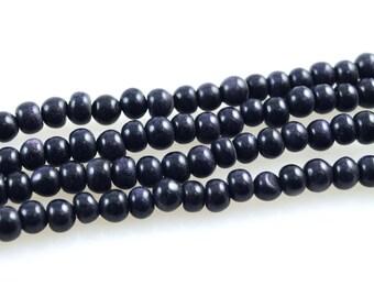 Blue Goldstone Bead Strand-Blue Goldstone Beads-Blue Goldstone-6mm Blue Goldstone Disc Beads-Goldstone Bead Strand-Goldstone Beads