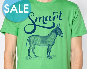 CLEARANCE Smart Ass Shirt Sarcastic Shirt Funny Mens Shirts Hipster Unique Mens Shirts Gifts for Men Ass Donkey Shirt Nerdy Funny TShirt
