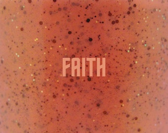 "Faith glitter nail polish 15 mL (.5 oz) from the ""Trek"" Collection"