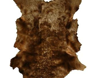 Glacier Wear Tuscan Lamb Hide Pelt Fur Brown
