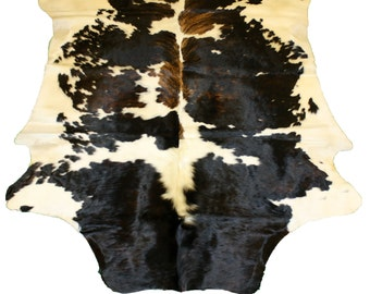 Glacier Wear Cow Hide Leather Hair-On Rug #022