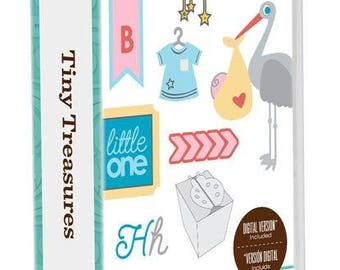 new in clam shell package cricut creative memories tiny treasure cartridge , freebook and crafting supplies