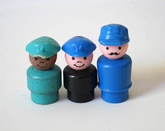 Vintage Fisher Price Workers with Hats