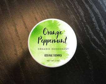 ORIGINAL: Orange Peppermint Organic Deodorant - Original Formula (2 ounces)