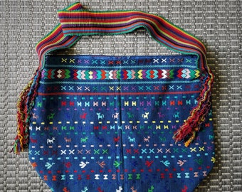 Ecofriendly Repurposed Recycled Upcycled GuatemalenTote Shoulder Bag Farmers Market Shopping Tote