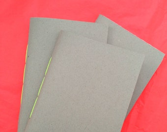 Hand-Bound Recycled Paper Notebook