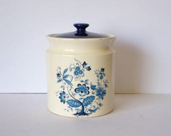 Vintage Ceramic Jar Blue and White Ceramic Canister Blue Danube Blue Onion Vintage Kitchen Decor Cookie Jar Ceramic Cookie Jar
