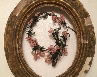 Antique shabby Gesso Frame