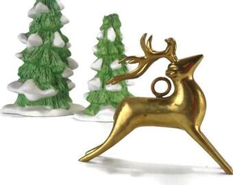 Vintage Brass Deer * Elk Sculpture * Stag Figurine