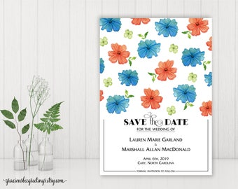 Save the Date Wedding Announcement, Save the Date Cards, Engagement Card, Engagement Party Invitation, Post Wedding Party Invite