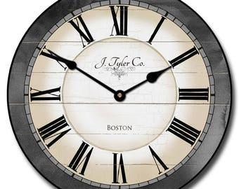 Carolina Gray Wall Clock