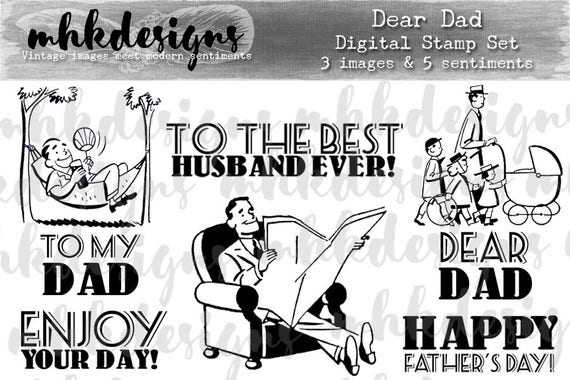 Dear Dad Digital Stamp Set