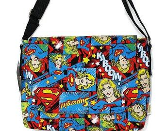 Supergirl, Messenger Bag , Supergirl gift DC Comics Gift , tv show, Superhero gift ,messenger bag, womens geeky Bag