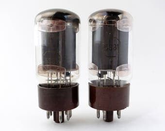 Matched pair: Tung Sol 5881/6L6WGB  vacuum tubes - brown bases