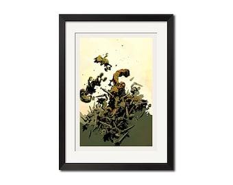 Hellboy The Wild Hunt Art Poster Print 0783