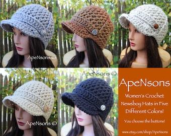 Riley Crochet Baby Hat Pattern : Items similar to PDF Crochet Pattern - Riley Brimmed ...