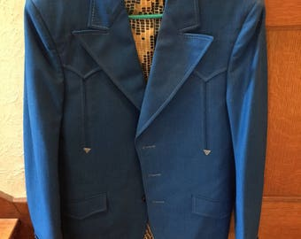 Lasso Royal Blue western suit
