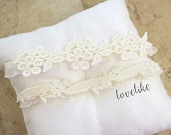 Ivory Soft Lace Wedding Garter Set, Venice Lace Garter Set, Wedding Garter Set, Bridal Ivory Garter, Vintage Style Wedding Garter