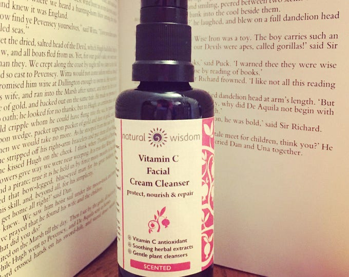 Vitamin C facial Cream Cleanser for dry sensitive skin. Raw and organic.